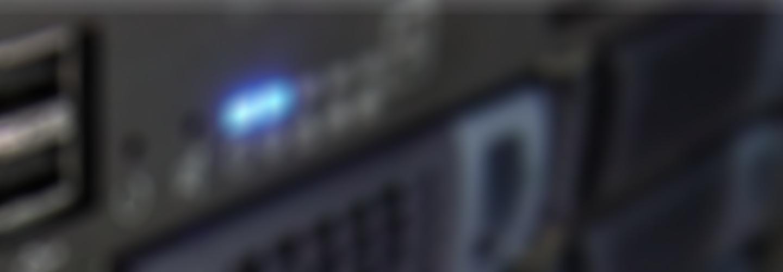 Fuzzy background image of audio hardware.