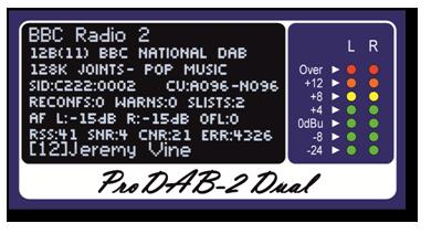 DAB Receiver Information displayed